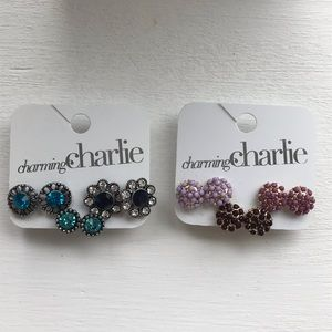 NWT! Charming Charlie Earring Sets